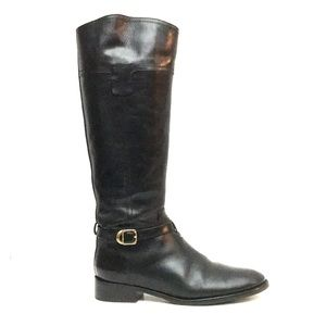 NEW Tory Burch Tall Black Leather Riding Boots 9.5